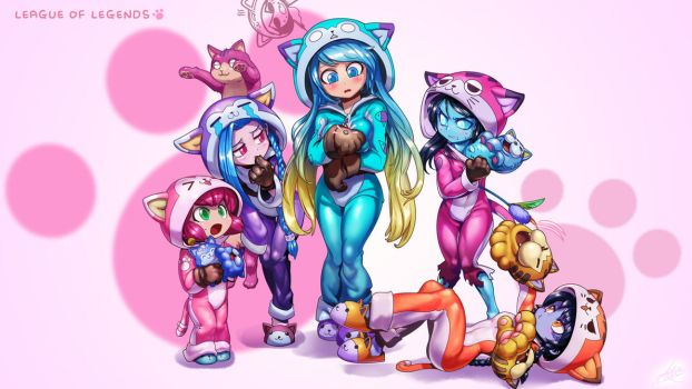 League of Meow Girls by ptcrow