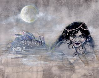 Moon, Mist, Mermaid by liselotte-eriksson