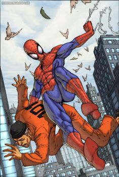 Spiderman catches thief by Ramdabam