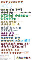 A Mega Man PC DOS Sprite Sheet by MegaRed225