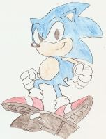 Sonic old school by Sonic-for-ever