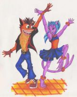 DWTGS 8-Crash Bandicoot by KaeMcSpadden