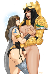 Sigmar-chan and Emperor-chan by Flick-the-Thief