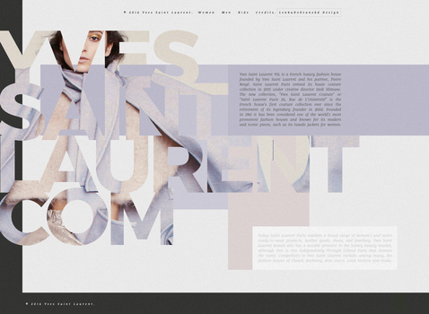 Yves Saint Laurent | Fashion Web Design by lenkamason