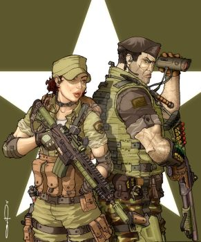 Lady Jaye and Flint by Wry1