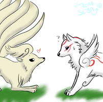 Okami and Ninetails by J-LXXVII