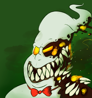 burnt marshmallow (with teeth) by ZombieMaggotQueen