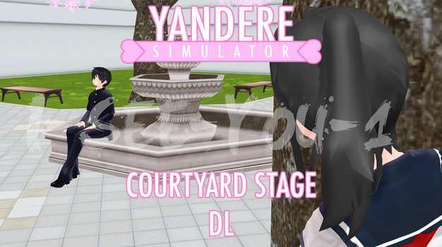 *OUTDATED* YanSim MMD Stage - Courtyard [DL] by i-see-you1