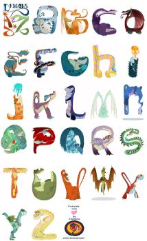 Dragons from A to Z by Ztoical