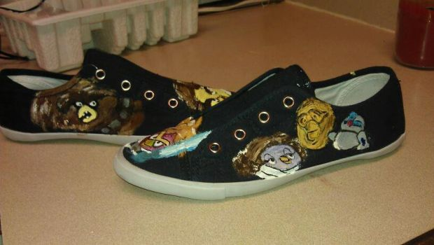 Angry Birds custome shoe by melodywinters
