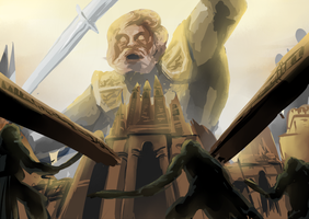 SHINGEKI NO DARK SOULS: ATTACK ON GIANT DAD by AdventOfDawn