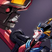 Starscream and Windblade by TheButterfly