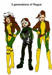 3 generations of Rogue by xero87