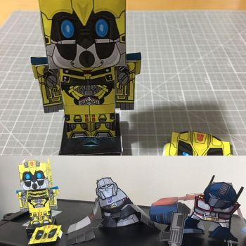 Transformers Bumblebee cubee  by otherwld
