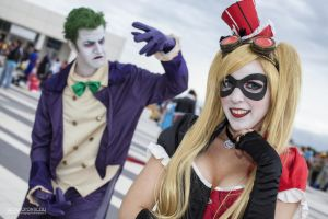 Harley Quinn Steampunk and Joker by Elis90
