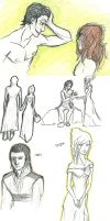 Loki and Sigyn Sketches by XDMimikoXD