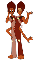 Parisite! Peridot and Rutile Twins FUSION by anothergem