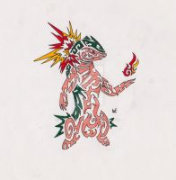 Typhlosion Tribal Tattoo 1 by Skrayle