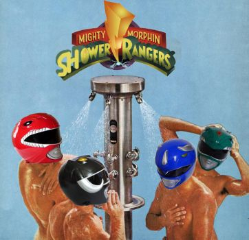 Mighty Morphin' Shower Rangers by SlurpeeTheAsshole