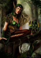 [May Reward]  Alleria Windrunner by HiroNoUnmei