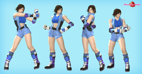Asuka Poses pack by Strawberry-Pink05