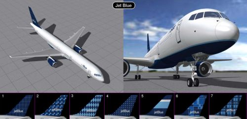 Boeing 757 Jet Blue  by iconkid