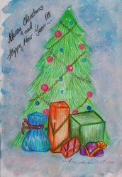Xmas-card by Wol4ica