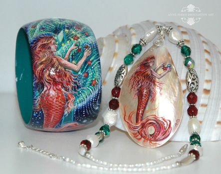 Christmas Mermaid Jewellery Set by Mocten