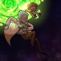 Dimension Hopping~ Rick and Morty by Speckled-Waffle