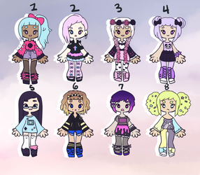 Little Pastel Adopts { CLOSED } by hello-planet-chan