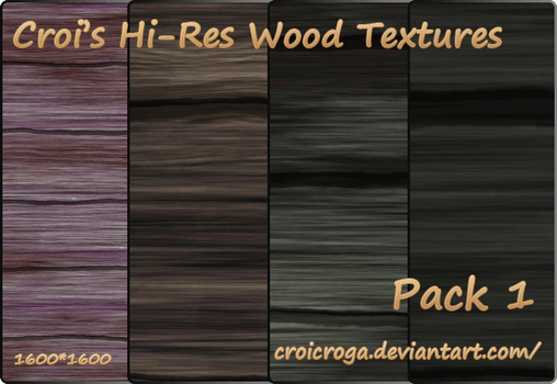 Croi's Hi-Res Wood Textures Pack 1 by croicroga