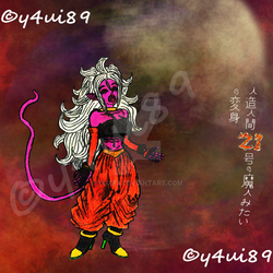 Android 21 - Halloween colors by y4ui89