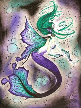Speckled Butterfly Mermaid by dreamangelkristi