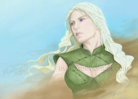 Colored TixieLix's Daenerys Sketch by 9999DamagePoints