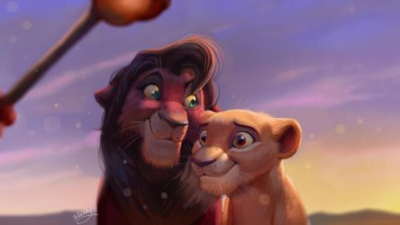 Kovu and Kiara by TehChan