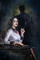 Burial at Sea - Elizabeth poster by LilSophie