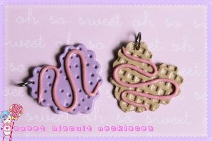 Sweet Biscuit Necklaces by CandyStripedCafe