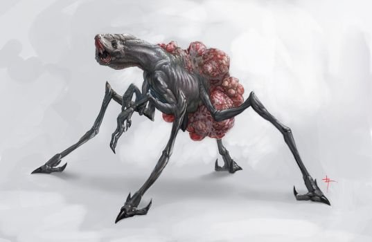 Egg Carrier Creature concept by Vindrea