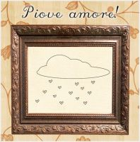 Embroidery Pattern: Piove Amore by megalomaniaCi