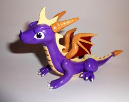 Spyro Dragon Sculpture by ByToothAndClaw