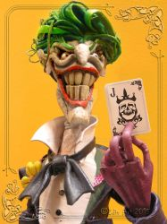 The Joker Leather Sculpture... My Card by MedusaWood