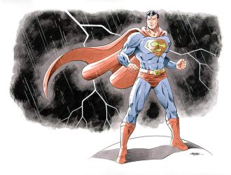 Superman color by 93Cobra