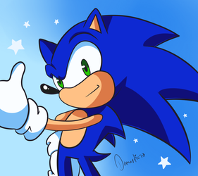 Thumbs Up Sonic The Hedgehog by Domestic-hedgehog