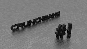 crunchbang linux wallpaper by Lukazoid