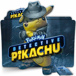 Pokemon Detective Pikachu movie folder icon v2 by zenoasis