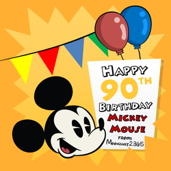 Mickey Mouse - Birthday Card (2018) by TheLoudHouseFan2005