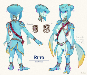 Breath of the Wild Ruto by lulles