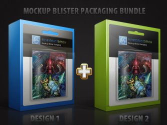 Mock-Up Blister Package Template by Twist3dDNA