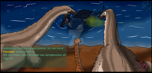 The Isle - Suchomimus encounter... by T-i-g-g