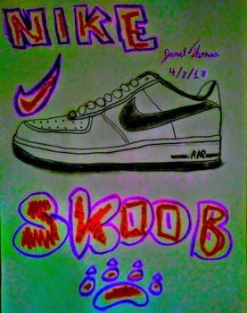 Nike Air Force 1's -SkooB 4/8/18 by SkoobyForever